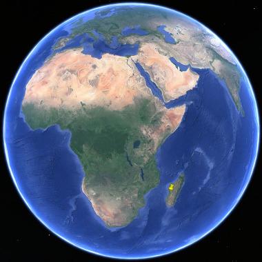 Localisation des Tsingy de Bemaraha sur l'ile de Madagascar