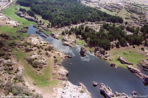 Extrémité Sud du lac temporaire des Rives (Hérault), 1er janvier 2008