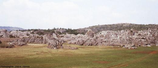 Le lac des Rives, sans eau, en décembre 1979