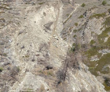 Zoom sur le milieu du secteur oriental du glissement du Pas de l'Ours