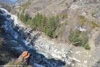 Le glissement de terrain du Pas de l'Ours, haute vallée du Guil, Aiguilles, Hautes Alpes: état le 19 avril 2018