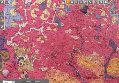 Extrait de la carte géologique au 1/50000 de Burzet