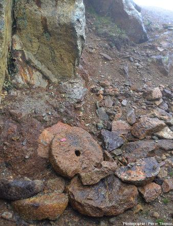 Vue d'ensemble d'un secteur du Sentier Découverte du géosite des mines de Saint-Marcel et de Servette (Val d'Aoste)