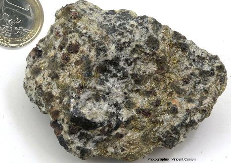Échantillon de la collection de l'ENS de Lyon provenant de la mine de Servette, Val d'Aoste