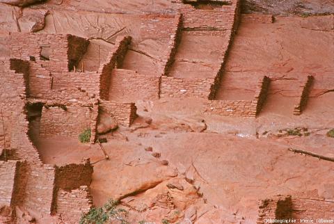 Détail des ruines du village amérindien (XIIIème siècle) de Betatakin, Arizona