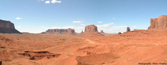Un aspect de Monument Valley, Parc tribal Navajo à la frontière de l'Arizona et de l'Utah (USA)