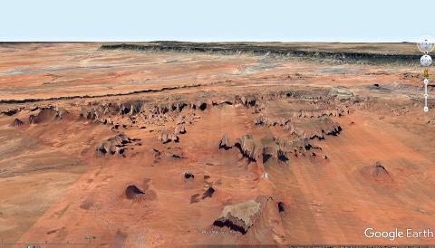 Vue aérienne sur Monument Valley