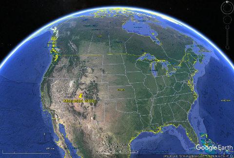 Localisation de Monument Valley, Ouest des États-Unis d'Amérique