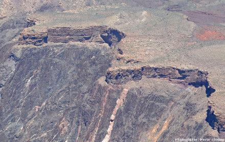 Zoom sur la discordance Cambrien / Vishnu Schists et granites du Protérozoïque inférieur