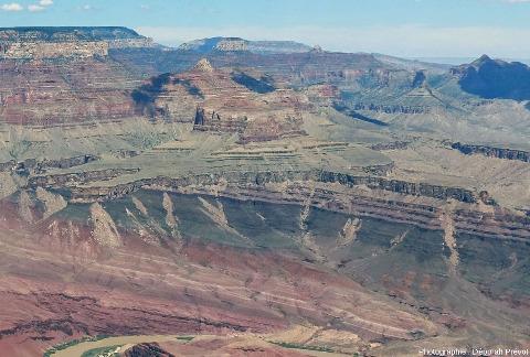 Détail de la discordance Cambrien/Protérozoïque supérieur stratifié, Grand Canyon du Colorado, Arizona (USA)
