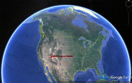Localisation du Grand Canyon du Colorado, Amérique du Nord