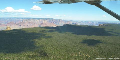 """Vue vers l'Est en direction la """"boucle"""" du Grand Canyon"""