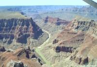 Le Grand Canyon du Colorado vu du ciel (Arizona, USA)