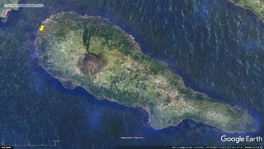 Localisation du vignoble de Criação Velha sur l'ile de Pico (Açores)