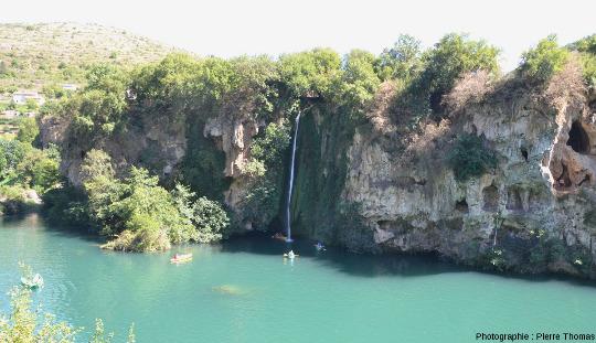 Travertin du Lévéjac et la cascade des Baumes, Saint-Rome-de-Tarn (Aveyron)