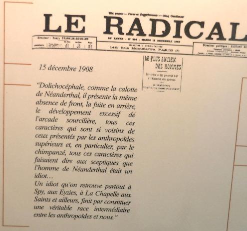 Extrait pris dans Le Radical (journal radical-socialiste) du 15 décembre 1908