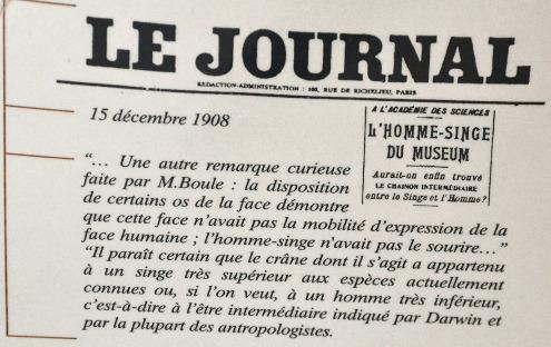 Extrait pris dans Le Journal (journal plutôt classé à gauche en 1908) du 15 décembre 1908