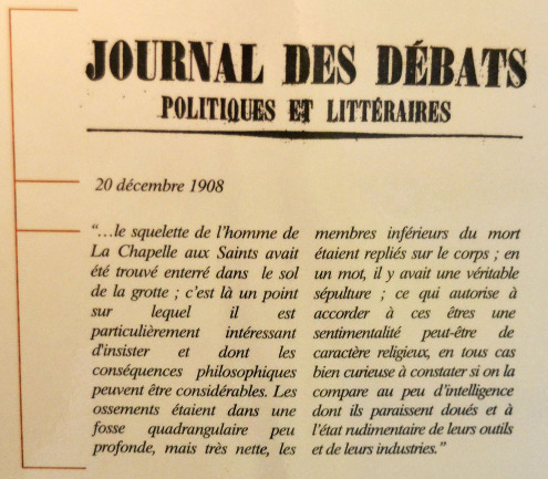 Extrait pris dans Le Journal des Débats du 20 décembre 1908