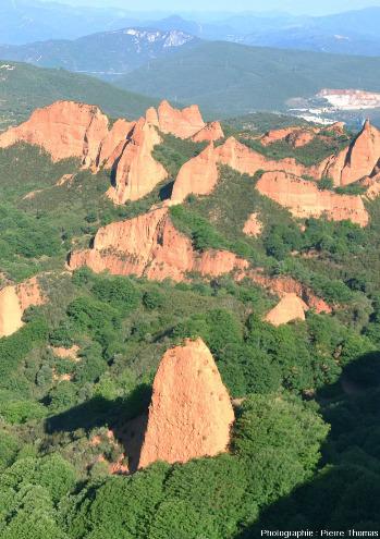 Vue sur le site de Las Médulas depuis le Mirador d'Orellan