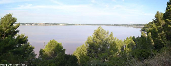 Vue générale sur l'étang du Lavalduc (Bouches du Rhône)