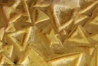 Les triangles de calcite (calcite triangulaire) de la grotte du Grand Roc, les Eyzies-de-Tayac-Sireuil, Dordogne