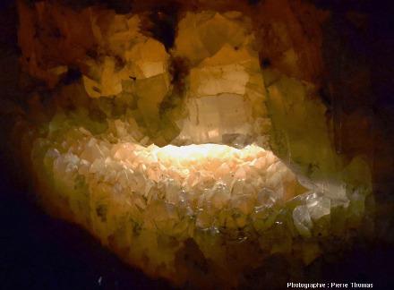 Ancienne cavité karstique d'une trentaine de centimètres dans sa plus grande dimension
