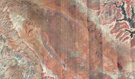 Vue aérienne de la Salt Valley, au centre du Parc national des Arches (Utah)