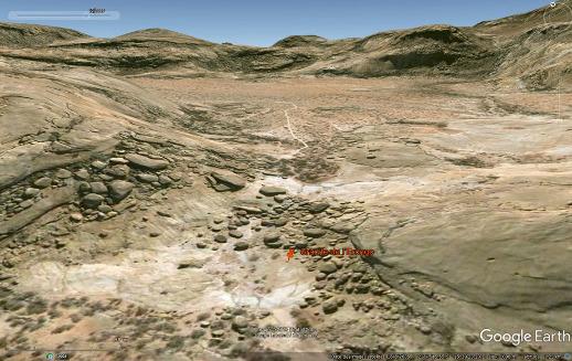 Localisation des filons aplo-pegmatitiques du site Bull's Party, granite de l'Erongo (Namibie)