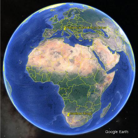 Localisation des granitoïdes du Monte Capanne (ile d'Elbe, Italie) et de l'Erongo (Namibie), deux granites récents (Miocène et Crétacé) mis en place en contexte extensif (ouvertures de la mer Tyrrhénienne et de l'Atlantique)