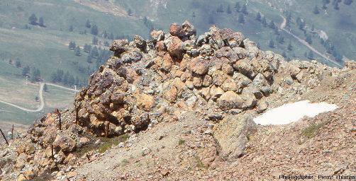 Morphologie des pillow lavas du massif du Chenaillet, Hautes Alpes