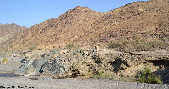 Le Moho pétrologique dans la partie amont du wadi Bani Kharus, Oman