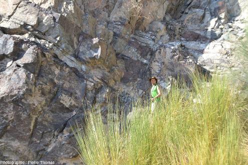 Zoom sur le Moho de la partie aval du wadi Bani Kharus, Oman