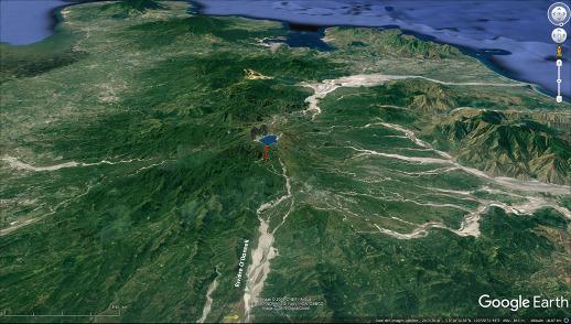 Aspect du Pinatubo (Philippines) et de sa région en 2018