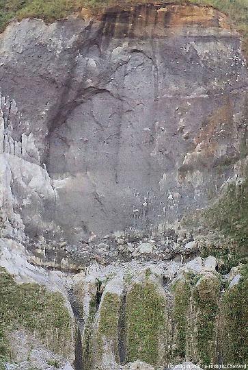 Éboulement dans la paroi de la caldeira du Pinatubo (Philippines)