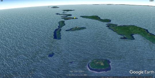 L'arc insulaire des Nouvelles Hébrides (Vanuatu) vu en direction du Sud