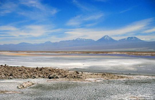 Paysage typique du Salar d'Atacama au Chili