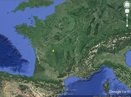 Localisation des Monts d'Ambazac et de leurs pegmatites en France