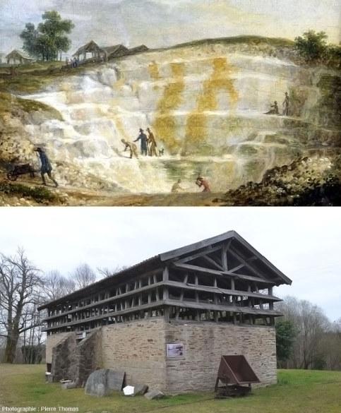 Carrière et séchoir à kaolin, Marcognac, commune de Saint-Yrieix-la-Perche (Haute-Vienne)