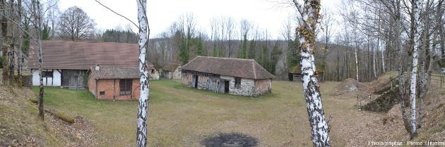 Une partie de l'ancien hameau artisanalo-industriel où se faisait le traitement du kaolin à Marcognac (Haute-Vienne)