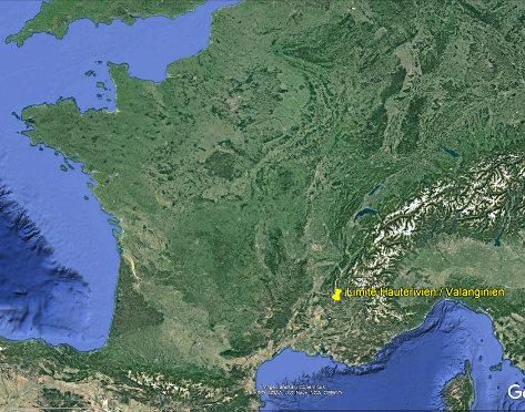 Localisation de la limite Valanginien / Hauterivien de La Charce (Drôme)