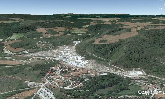 Vue aérienne des salines de Salinas de Añana, pays basque espagnol