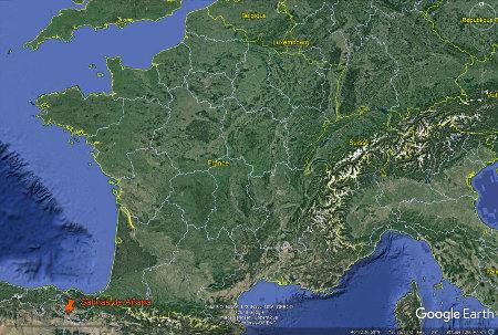 Localisation de Salinas de Añana, au pays basque espagnol