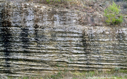 Vue de détail des stratifications obliques de la gauche de la figure précédente, près de Saumane de Vaucluse