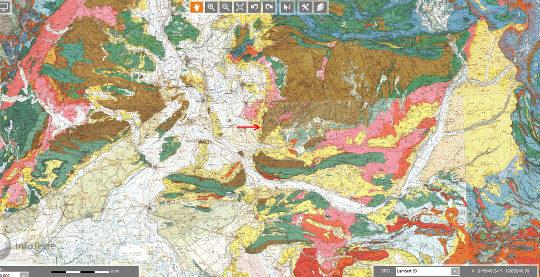 """Contexte géologique local élargi de la région de Fontaine de Vaucluse, région se situant pendant le Miocène, au """"carrefour"""" entre le bassin flexural péri-alpin et de la Méditerranée occidentale naissante"""