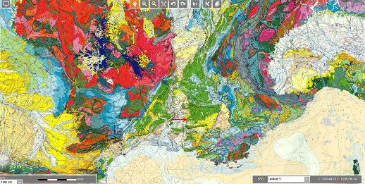 """Contexte géologique régional de Fontaine de Vaucluse, région se situant pendant le Miocène, au """"carrefour"""" entre le bassin flexural péri-alpin et de la Méditerranée occidentale naissante"""