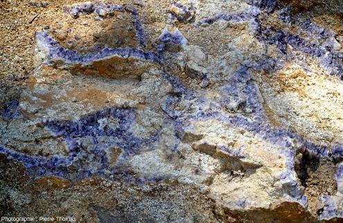 Zoom sur la partie orientale du filon des images précédente (près du cône de circulation), Mine de Poux, Puy-de-Dôme