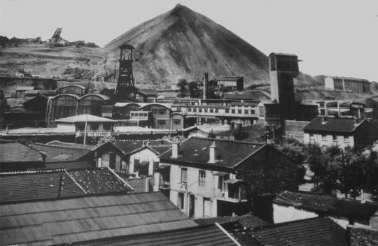 Le secteur du puits Couriot vers 1950, Saint-Étienne