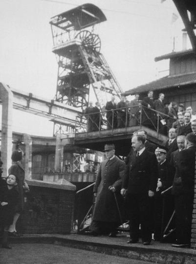 Visite du maréchal Pétain au puits Couriot en 1941, Saint-Étienne