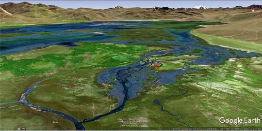Reconstitution de la plaine d'inondation / du lac temporaire du bassin d'Alès au Carbonifère