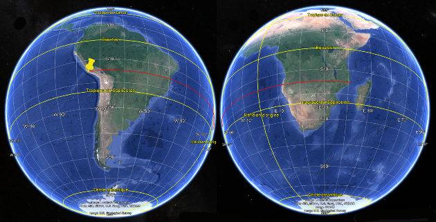Montage d'images de l'Amérique du Sud et de l'Afrique
